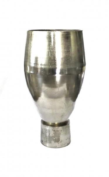 Deko Bodenvase Vase Modern Silber Metall Colmore Industrie Stil 66 cm